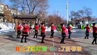 香兰广场舞扇子舞《拜新年》附正背表演口令分解动作分解教学