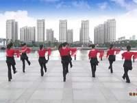 南陵三里轻舞飞扬广场舞 张灯结彩 背面展示
