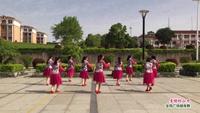 高安八景吉岭社区广场舞 多情的山丹 表演 正背面演示及慢速口令教学