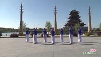乾安县和谐舞蹈队舞蹈  月落泉 表演 团队版 正背面口令分解动作教学演示