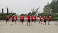 江咀健身舞蹈队广场舞 自由自在 表演 团队版 经典正背面演示及口令分解动作教学