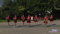 长青街舞之韵舞蹈队二队舞蹈 花桥流水 表演 团队版附正背面口令分解教学演示