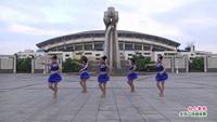 新余渝水區小蘋果牛牛隊廣場舞 向上攀爬 表演 團隊版 正背面演示及口令分解動作教學