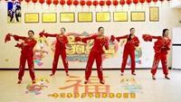 慧慧广场舞《 拜新年 》原创附教学附正背表演口令分解动作分解教学