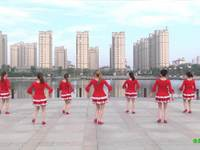 南陵翠翠广场舞 自由自在 背面展示
