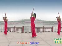 陕西华州小丫广场舞 好一朵女人花 正背面表演(小丫)