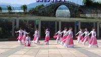 茉莉广场舞 《又见江南雨》 原创12人变队形古典舞含教学正反面演示及分解动作教学