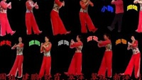 玲儿广场舞《拜新年》舞队合屏原创附正背面教学口令分解动作演示