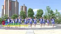 湖南常德大桥健美舞队舞蹈  心里藏着你 表演 团队版 完整版演示及分解教学演示