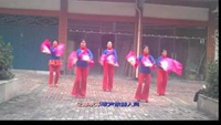 尚庄新街舞队扇孒舞 新年乐逍遥完整版演示及口令分解动作教学