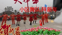 妙乐新村广场舞:拜新年:妙乐小区舞队原创附正背面教学口令分解动作演示