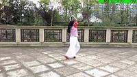 謝春燕廣場舞:(青花開在紅塵里)經典正背面演示及口令分解動作教學