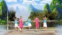 华丽丽广场舞《花桥情歌》完整版演示及口令分解动作教学