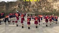 开心姐妹组广场舞《拜新年》原创编舞扇子舞正背面演示及慢速口令教学