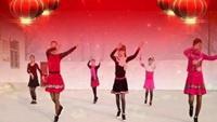 河南糖粉廣場舞《北風吹又吹》團隊版完整版演示及口令分解動作教學