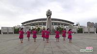 新余渝水區珍緣健身舞蹈隊廣場舞   大風歌 表演 團隊版附正背面口令分解教學演示
