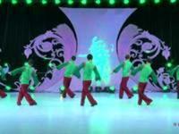 中国男子帅虎队广场舞 第二十季 一路花香 背面展示
