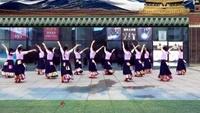 子龙明星队雅安飘飘舞队集体版《唐古拉》饶子龙编舞正背面演示及口令分解动作教学和背面演