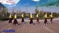 緣舞廣場舞《穿行》團隊版編舞:應子附正背表演口令分解動作分解教學
