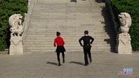 骆伟钦与胡生葵交谊舞 神奇草原 表演 双人版 正背面演示及口令分解动作教学和背面演