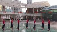 广西柳州彩虹健身队 走出空城走不出想念 编舞春英正背面口令分解动作教学演示