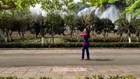 德阳箌影广场舞《舍不得》编舞雨夜;制作箌影正背面演示及口令分解动作教学和背面演