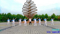 北京王钧广场舞  自由自在 表演 团队版 原创附正背面教学口令分解动作演示
