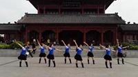 蝶月广场舞《自由自在》原创附教学口令分解动作演示