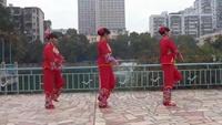 水水广场舞《拜新年》精彩就在这里原创附教学口令分解动作演示