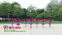 麗人廣州小兔子舞隊廣場舞  察汗淖爾 表演 團隊版 附正背表演口令分解動作分解教學