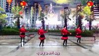 羽蝶广场舞《张灯结彩》新年舞 原创附教学完整版演示及分解教学演示