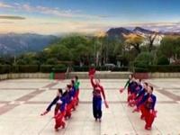 應子廣場舞《一起紅火火》原創隊形版 附正背面口令分解教學演示