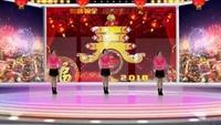 关帝村欢乐广场舞《拜新年》口令分解动作教学