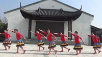 金色黎明女人花芳舞队《西藏情歌》编舞応子原创附正背面教学口令分解动作演示