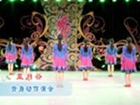 張春麗廣場舞 藍月谷 背面展示 口令分解動作教學