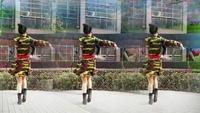 武漢汪汪原創廣場舞《天越藍我就越想你》雙人舞教學完整版演示及口令分解動作教學