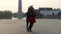 徐小凤与葛巧玲交谊舞 踏出一路阳光 表演 双人版 正背面演示及口令分解动作教学和背面演
