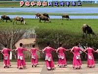 茉莉广场舞《我向草原问个好》原创藏族风民族舞附教原创附教学口令分解动作演示