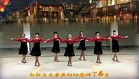 山东快乐广场舞队《拜新年》原创附教学经典正背面演示及口令分解动作教学