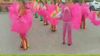 桃都廣場舞原創《豐收年》演示:情緣廣場舞正背面演示及慢速口令教學
