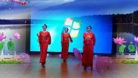 津南中塘金英广场舞《红湖水浪打浪》正背面演示及口令分解动作教学