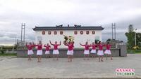 江西舞樂樂廣場舞 桃花美桃花開 表演 團隊版 原創附正背面教學口令分解動作演示