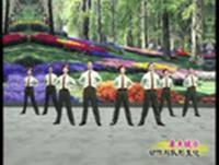 杨艺舞蹈 军旗下的我们 队形演示 完整版演示及分解教学演示
