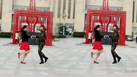 微笑常驻广场舞【锡林郭勒的星星】双人水兵舞经典正背面演示及口令分解动作教学