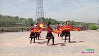 天津市武清區飛揚廣場舞 中國味道 表演 正背面演示及口令分解動作教學和背面演