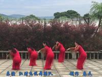 江西江财飞悦广场舞 好一朵女人花 背面展示