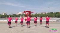 长春市市绿园区客车厂崇文社区舞蹈队舞蹈 心里藏着你 表演 团队版 正背面口令分解动作教学演示