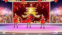 江苏最美乡村潘冲静静广场舞;拜新年;编舞慢城霞依口令分解动作教学演示