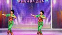 石榴学跳广场舞,拜新年。完整版演示及分解教学演示