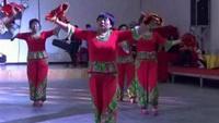 《拜新年、财神到》西六支队双扇舞经典正背面演示及口令分解动作教学